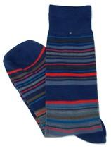 Lord R Colton Blue Red & Gray Stripe Dress Socks - $28 Retail - Brand New - $13.49