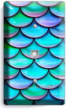 Mermaid Tail Fish Scale Pattern Phone Telephone Wall Plate Cover Room Home Decor - $10.79