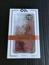 CaseMate Waterfall Case iPhone X W/Cascading Rose Colored Liquid Glitter... - $9.99