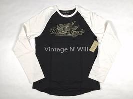 Denim Supply Ralph Lauren Men Black/White Moto Inspired Baseball Raglan ... - $33.24
