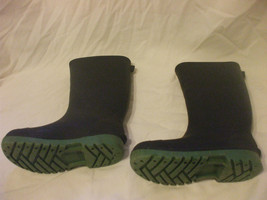 Toddlers Black Rubber Boots Size 12     8 Inches From Heel To Toe - $15.82