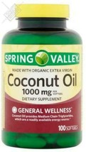 Spring Valley Coconut Oil Softgels, 1000 mg, 100 Ct - $21.97
