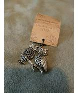 Owls apple cinnamon scented fabric sachet usefor necklace pendant Keycha... - $9.99