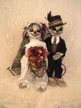 """""""Mr. & Mrs. Bones"""" Cloth Doll (Paper) Pattern By Shelley Hawkey - $12.00"""