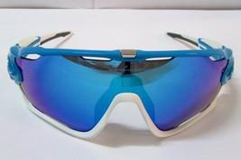 OAKLEY JAWBREAKER Sunglasses OO9290-02 Sky Blue Sapphire Iridium Aerodyn... - $128.99