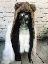 Unisex One Sz Hat Brown Bear Extra Long Trapper With Mittens Zipper Mini... - $466,11 MXN