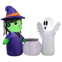 Airblown Inflatable-Witch and Ghost Scene by Gemmy Industries  - $44.72