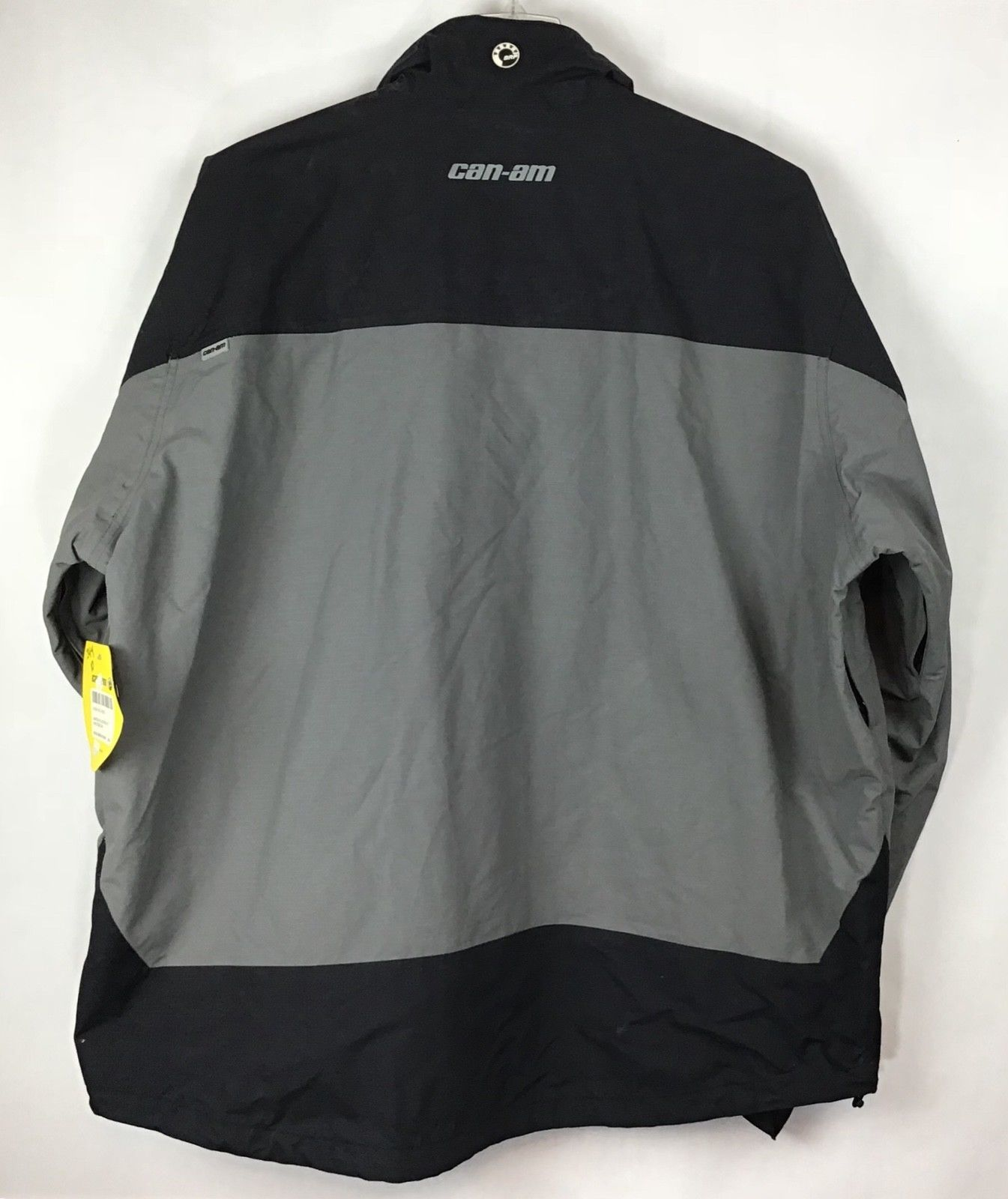 CanAm BRP XXL Mens Rain Riding Jacket 2XL FLAWED Nylon Black Spyder NWT A9-21 image 5