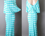 Womens Open Back Comfy Casual Pattern Boho Party Jersey Long Maxi Dress S M L