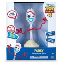 "Disney Pixar Toy Story 4 FORKY 8"" Talking Free Wheeling Action Figure 20... - $44.99"