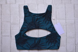 Mikoh Swimwear Protea Midnight Marrakesh Cutout Crop Bikini Top (L) Nwt $112 - $75.00