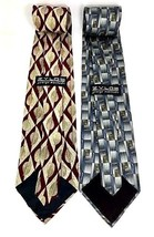"NEW Two (2) ZYLOS George Machado Italian Silk Men's Neck Ties 57"" - $15.95"