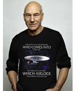Star Trek You Can Control Which Airlock You Throw Out Black Sweatshirt S... - $30.99+