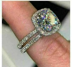 5Ct Round Cut VVS1 Diamond Women's Bridal Wedding Ring Set 14K White Gold Finish - $130.99