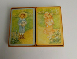 Box set Hallmark Bridge Playing Card Faithful Friends Boy Girl - Plastic... - $14.01