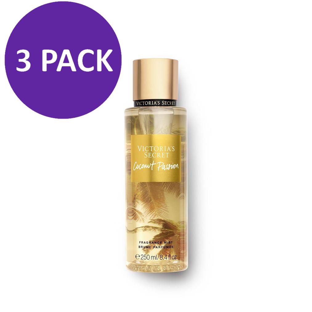 Victoria's Secret Fragrance Mist Coconut Passion, 8.4 fl oz (3 PACK)