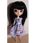 Christmas Holidays Dress Pullip Momoko Jenny Doll Size Handmade OOAK Blu... - $19.97