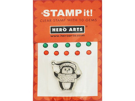 Hero Arts Stamp It! Winter Clear Stamp Set with Rhinestones #CM005 - $3.55