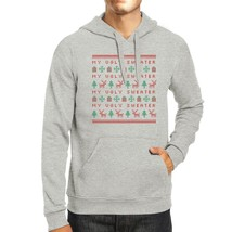 My Ugly Sweater Pattern Grey Hoodie - $25.99+