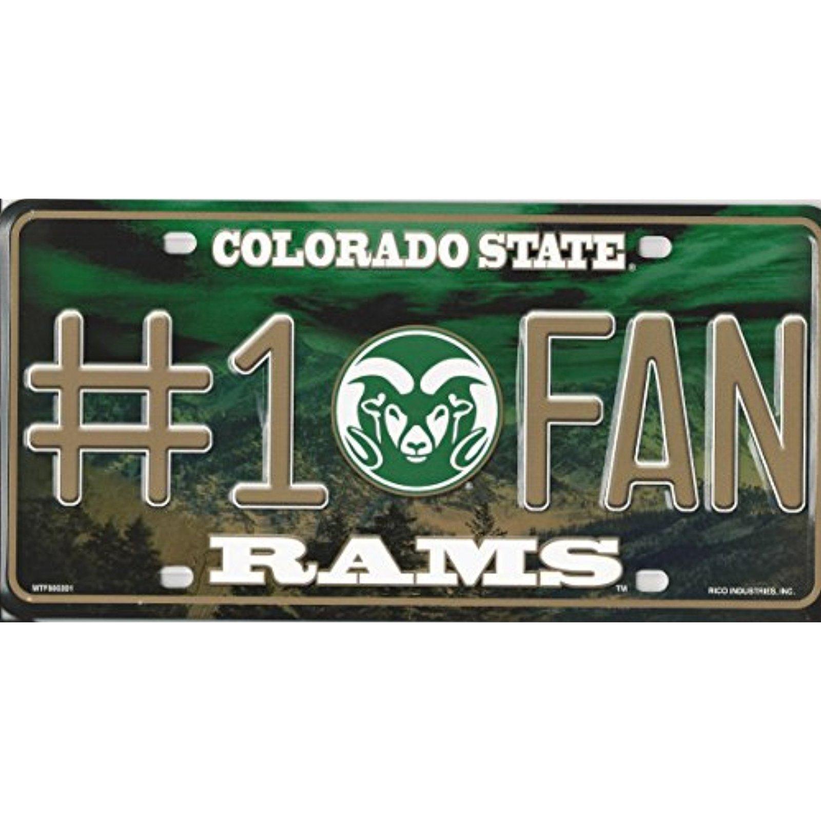 NCAA Colorado State Rams Vanity Metal License Plate Tag