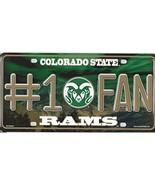 NCAA Colorado State Rams Vanity Metal License Plate Tag - $10.95