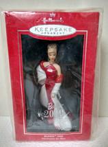 2000 Hallmark Keepsake Porcelain Ornament Barbie 2000 Red Sheath Gown NEW - $15.99