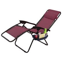 Folding Zero Gravity Recline Lounge Chair Red Outdoor Beach Patio W/Util... - $83.98