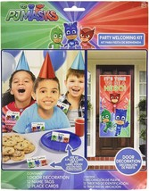 PJ MASKS Welcoming Kit Birthday Party Decoration Supplies 12 GUESTS Door... - $10.87