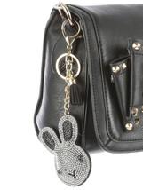 Tassel Bling Pave Crystal Bunny Rabbit Pillow Key Chain Handbag Charm image 2