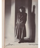 1983 L'Zinger Bloomingdales Sexy Brunette Vintage B & W Fashion Print Ad... - $6.33
