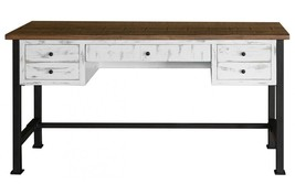 Anton Distressed White Desk - $787.05