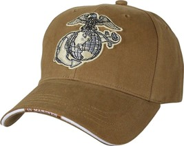 Coyote Brown Globe & Anchor Adjustable Cap Baseball Hat - $17.99