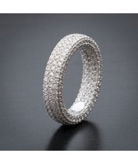 Men's Fully Bust Down Iced Out White Gold Pinky Ring With Diamonds - $38.71