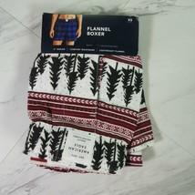 Mens XS American Eagle Multicolor Pine Tree Flannel Boxer Shorts - $99.00