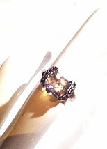 Vintage Genuine Pale Pink Kunzite 925 Sterling Silver Size 7 Ring - $123.75
