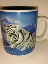 Collectible Travel Souvenir Coffee Mug Busch GardensTampa Fl White Tiger - $24.74