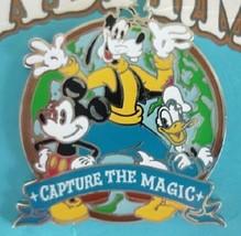 Disney Passholder Capture the Magic Mickey Goofy Donald World of Wonderment Pin - $9.79