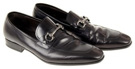 Salvatore Ferragamo Men's Metrone 2 Black Leather Loafers Shoe Size 10 P... - $388.50 CAD