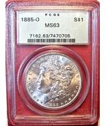 1885-O PCGS Morgan Silver Dollar. MS63. MG8. - $71.00