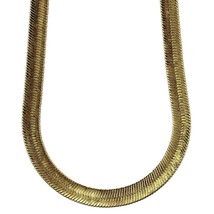14K Gold Plated Herringbone Chain Necklace 11mm x 24 inches High Quality - £20.82 GBP+