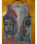Sostanza Vest Hand Painted on By Tammy Ranay Originals 35546 size 18  - $49.97