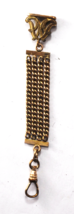 """Antique Pocket Watch Gold Filled Four Strand Chain Fob 4"""" 18mm Wide - $49.49"""