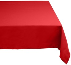 "DII 52x70"" Rectangular Polyester Tablecloth, Red - Perfect for Fall, Tha... - $17.36"