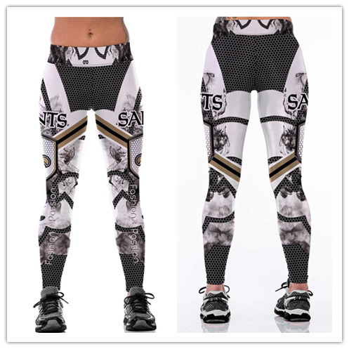 Women New Orleans Saints Digital Pants Running Tights Yoga NFL High Waist Legz for sale  USA