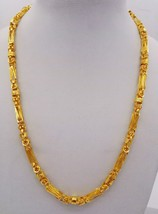 22K AUTHENTIC YELLOW GOLD FLEXIBLE LINK CHAIN FOXTAIL CHAIN 24 INCH 30.8... - $2,896.74