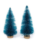 HOLIDAY CRAFT SUPPLY Sisal Tree - Green with Frost - 4 inches - 2 pieces... - $0.99