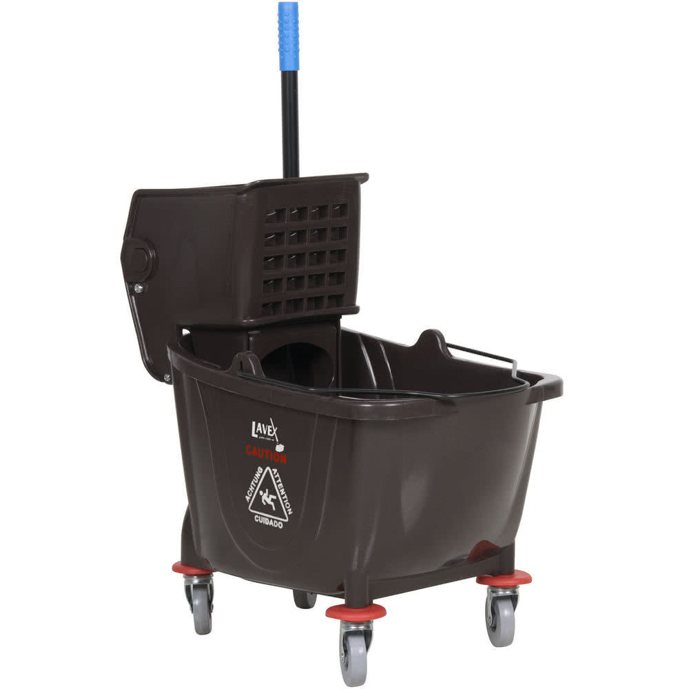 Industrial Lavex Janitorial Grey 36 Quart Mop Bucket /& Wringer Combo Gray Color