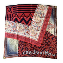 Authentic Louis Vuitton Silk Square Scarf Monogram Leopard Tresor Red - $311.85