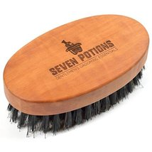 Seven Potions Beard Brush For Men With 100% First Cut Boar Bristles. Made in Pea image 9