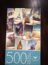 Vintage Jigsaw Puzzle 500p Cardinal Big Ben Eiffel Tower Beaches - $17.82